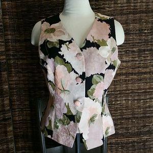 Christian Dior 3 button floral vest